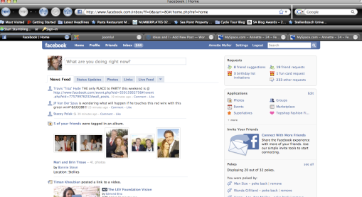 My Facebook Homepage